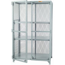 Welded Storage Locker with 2 Adjustable Center Shelves - 24