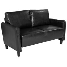Candler Park Upholstered Loveseat in Black LeatherSoft