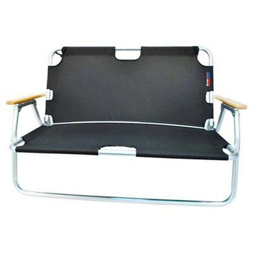 Our Two Person Folding Aluminum Frame Sport Couch with Storage - Black is on sale now.