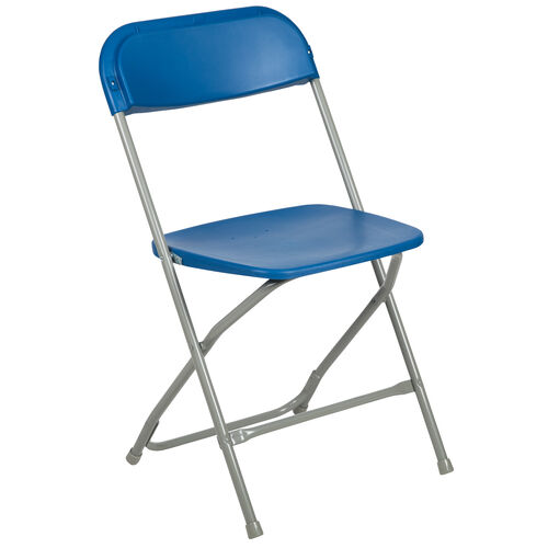 Our HERCULES Series 650 lb. Capacity Premium Blue Plastic Folding Chair is on sale now.