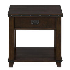 Cassidy Brown Traditional Plank Top End Table