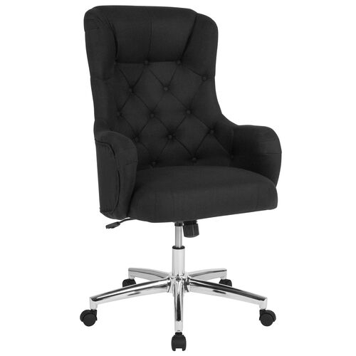 Our Chambord Home and Office Upholstered High Back Chair in Black Fabric is on sale now.