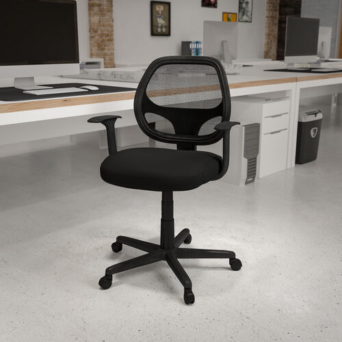 Flash Fundamentals Mid-Back Mesh Swivel Ergonomic Task Office Chair with Arms