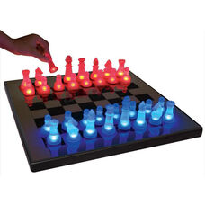 LED Glow Chess Set in Blue and Red