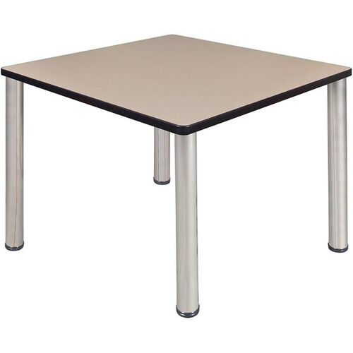 Kee Square Laminate Breakroom Table with PVC Edge - Chrome Legs