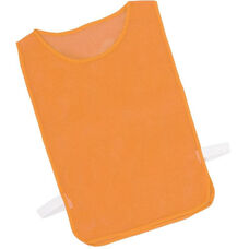 Adult Nylon Mesh Pinnie in Orange - Set of 12