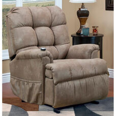 Space Saving Wall-A-Way Reclining Power Lift Chair with TV Position and Full Chaise Pad - Stampede Mocha Fabric