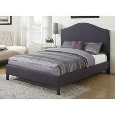 Clyde Padded Linen Bed - Queen - Gray