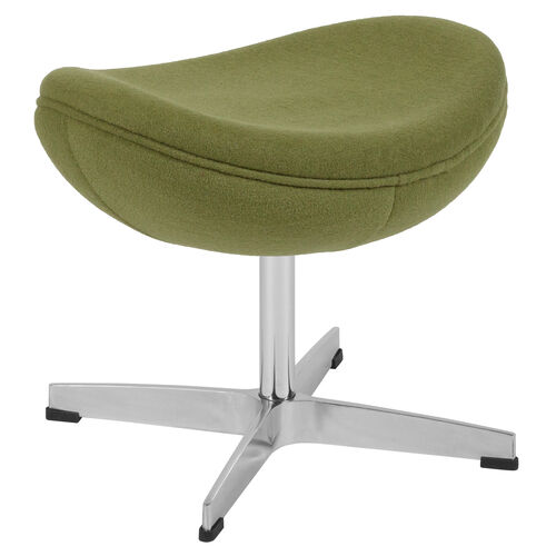 Our Grass Green Wool Fabric Ottoman is on sale now.