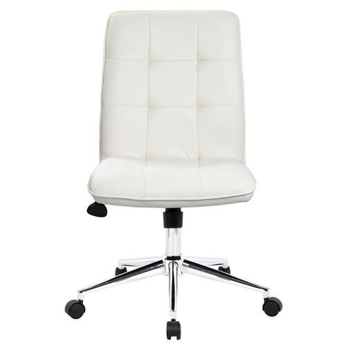 Our Modern CaressoftPlus Office Chair with Chrome Base and Hooded Casters - White is on sale now.