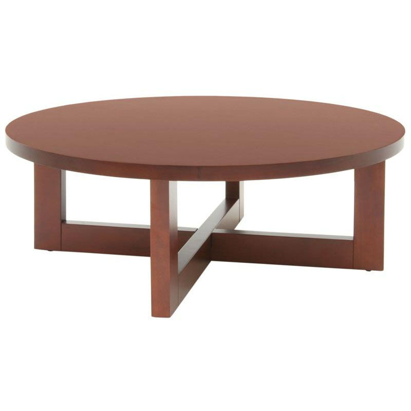 ... Our 37u0027u0027 Round Wooden Coffee Table With X Base   Cherry Is On Sale