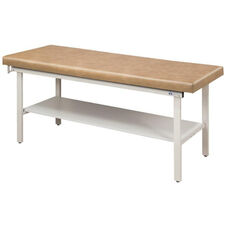 Alpha S-Series Straight Line Treatment Table - Full Shelf - 27