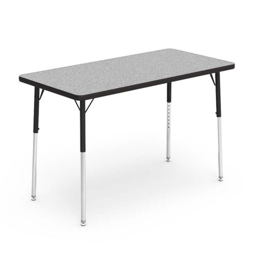 Quick Ship 4000 Series Adjustable Height Rectangular Laminate Activity Table with Gray Nebula Top - 24