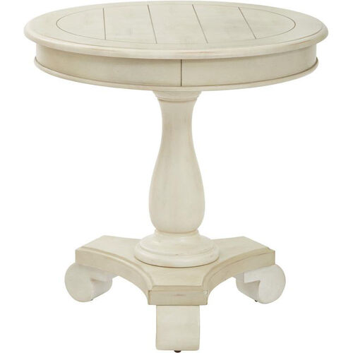 Our Inspired By Bassett Avalon Round Accent Table - Antique Beige Finish is on sale now.