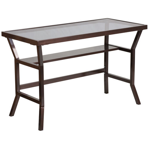 Our Contemporary Desk with Dark Gray Tempered Glass is on sale now.