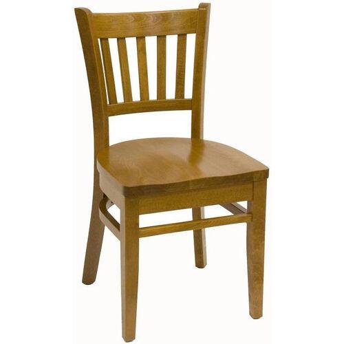 Vertical Back Wood Veneer Dining Chair