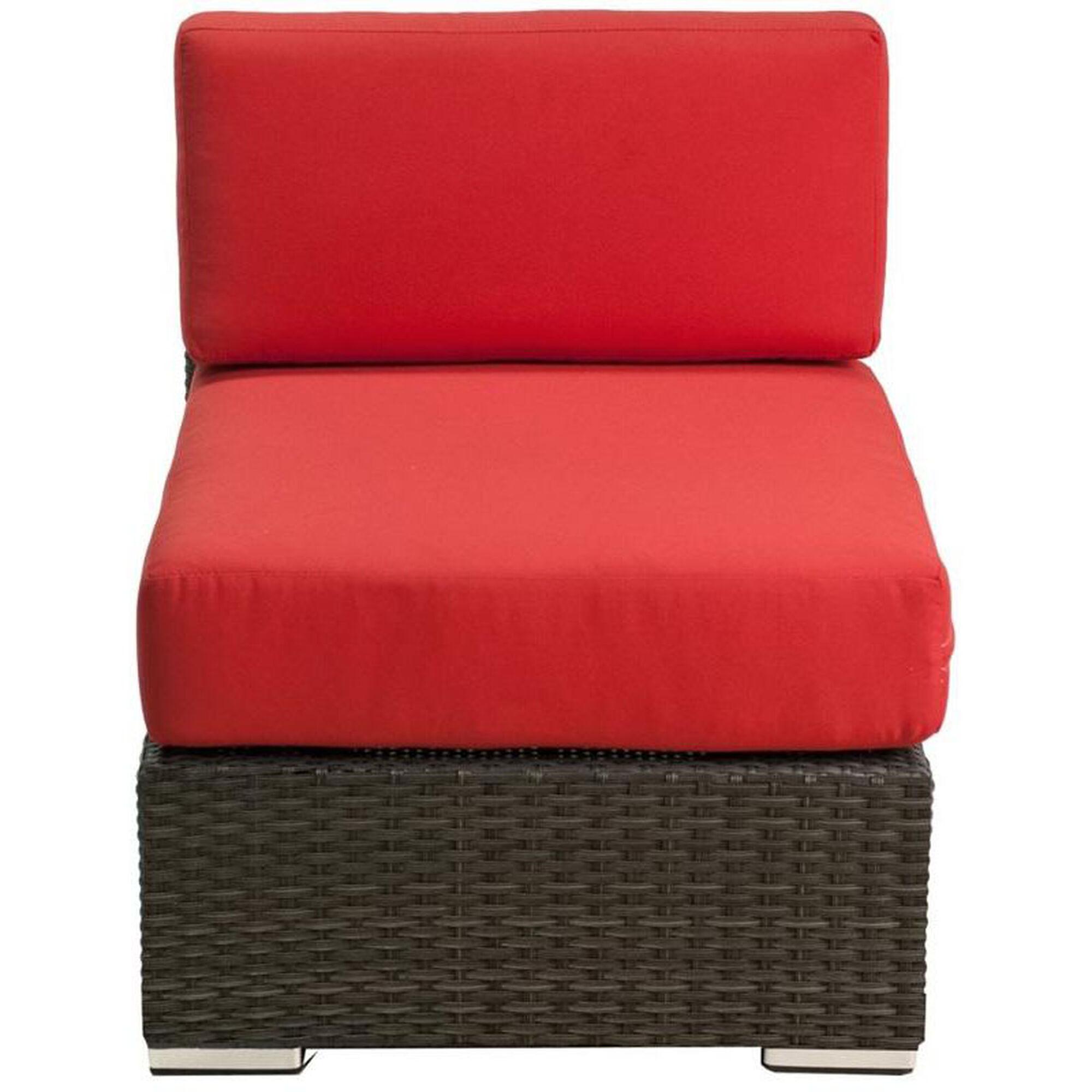 Outstanding Crystal Beach Collection Outdoor Wicker Side Chair With Sunbrella Cushions Indo Inzonedesignstudio Interior Chair Design Inzonedesignstudiocom