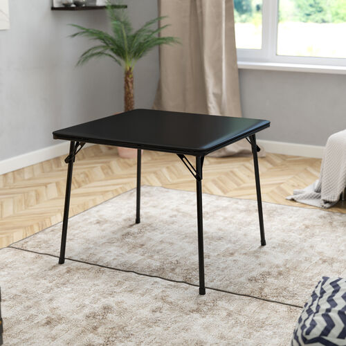 Folding Card Table - Lightweight Portable Folding Table with Collapsible Legs