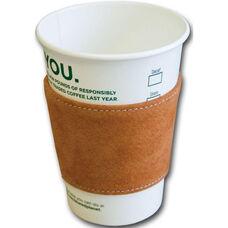 Suede Leather Coffee Sleeve - Jasper Brown