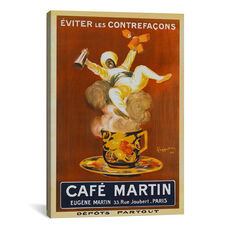 Cafe Martin (Vintage Art) by Leonetto Cappiello Gallery Wrapped Canvas Artwork