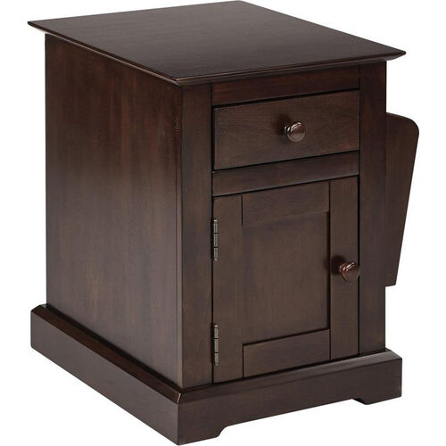 Our OSP Designs Colette Side Table with Storage - Walnut is on sale now.