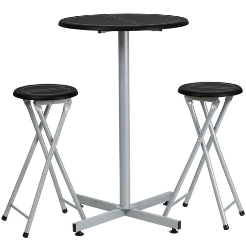 Our Bar Height Table Set with White Stitch Detail is on sale now.