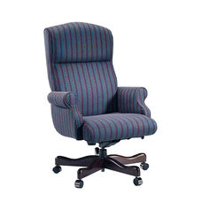 Renaissance Series Rolled Arm High Back Executive Swivel Chair without Tufts