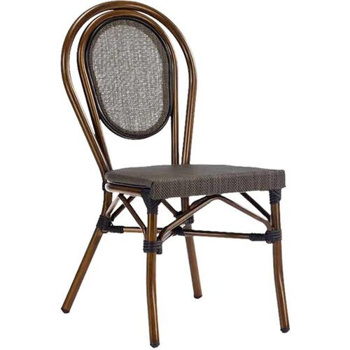 Our Magellan Outdoor Cast Aluminum Armless Side Chair with Bamboo Finish is on sale now.