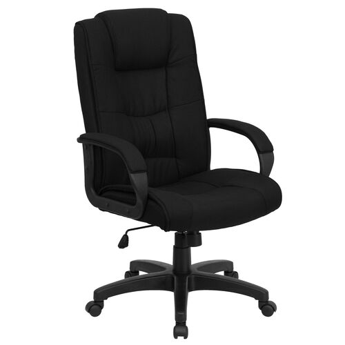 Our High Back Black Fabric Executive Swivel Office Chair with Arms is on sale now.