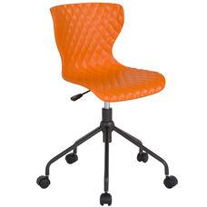 Brockton Contemporary Design Orange Plastic Task Office Chair