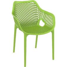 Air XL Modern Resin Outdoor Dining Arm Chair - Tropical Green