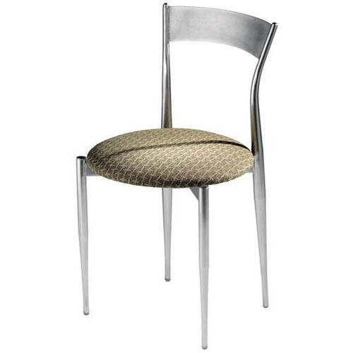 Cafe Twist Metal Back and Upholstered Seat Chair