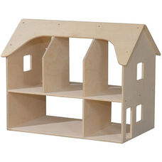 Wooden Double Sided Open Two Story Doll House - 24
