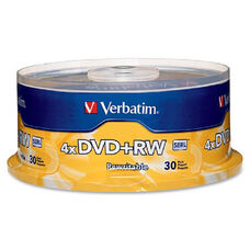 Verbatim Dvd+Rw Rewritable Discs Spindle - Pack Of 30