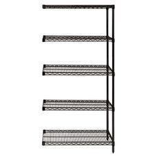 Black Wire Shelving 5-Shelf Add-On Units 24