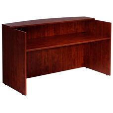 Reception Desk Shell - Mahogany