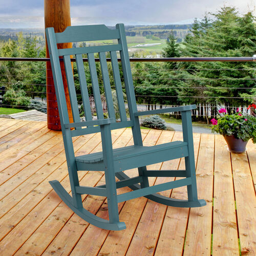 Winston All-Weather Poly Resin Rocking Chair in Teal