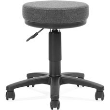 Adjustable Height UtiliStool with Stain Resistant Fabric - Dark Gray