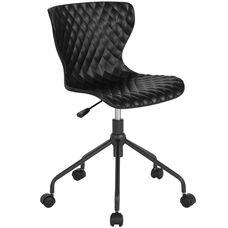 Brockton Contemporary Design Black Plastic Task Chair