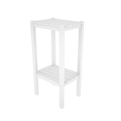 Our POLYWOOD® Bar Side Table - White is on sale now.