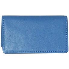 Business Card Case - Top Grain Nappa Leather - Ocean Blue