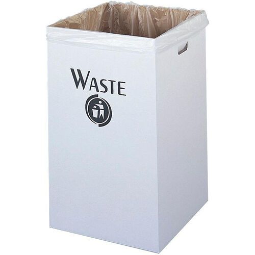 Our Economical Corrugated Waste Receptacle Solution - Set of Twelve - White is on sale now.