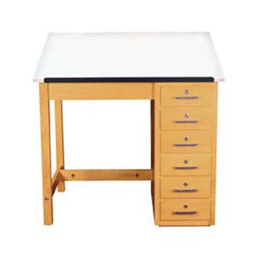 Our Drafting Table with Drawer Base is on sale now.