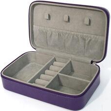 Jewelry Case - Aristo Bonded Leather - Plum