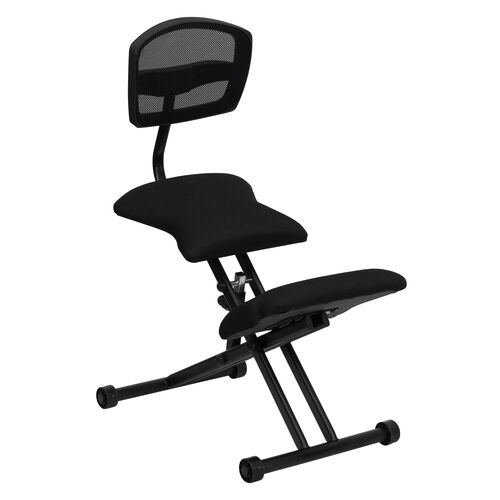Our Ergonomic Kneeling Office Chair with Back in Black Mesh and Fabric is on sale now.