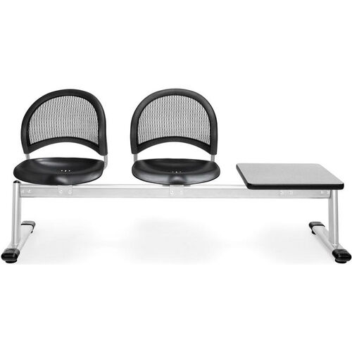 Our Moon 3-Beam Seating with 2 Black Plastic Seats and 1 Table - Gray Nebula Finish is on sale now.