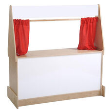 Birch Hardwood Puppet Theater with Dry-Erase Marquee and Presentation Boards