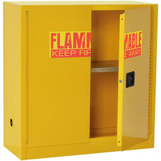43'' W x 18'' D x 44'' H Flammable Safety Cabinet with Adjustable Shelf - Yellow