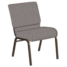 21''W Church Chair in Scatter Fedora Fabric - Gold Vein Frame
