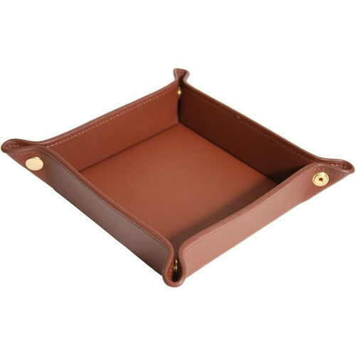 Our Luxury Travel Valet Catchall Tray - Top Grain Nappa Leather - Tan is on sale now.
